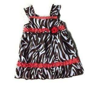 Jenny & Me Size 12M Girls Dress Brown Red